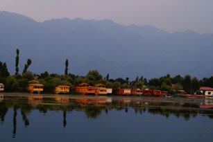 Houseboats in Nigeen Lake